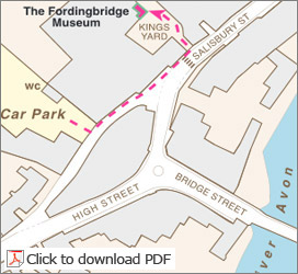 Fordingbridge Museum Location Map